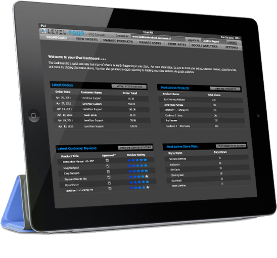 version 8 iPad administration console