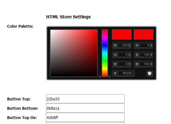 HTML5 Color Designer
